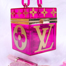 Load image into Gallery viewer, pink lv acrylic handbag box