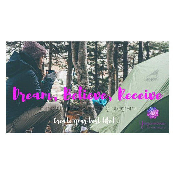 Dream Believe Receive - 6 month group coaching program
