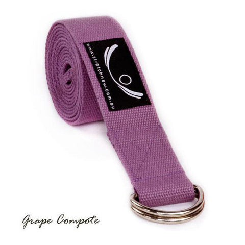 Grape Compote Organic Cotton Yoga Strap