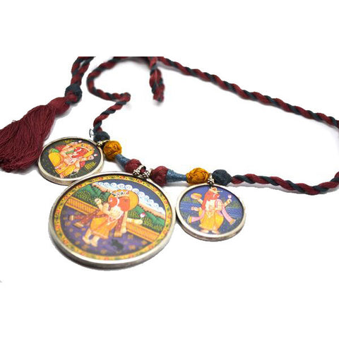 Lord Ganesh Trio Necklace