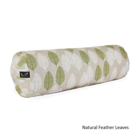 Natural Feather Leaves Organic Cotton Yoga Bolster