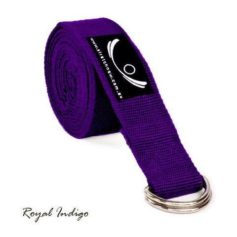 Royal Indigo Organic Cotton Yoga Strap