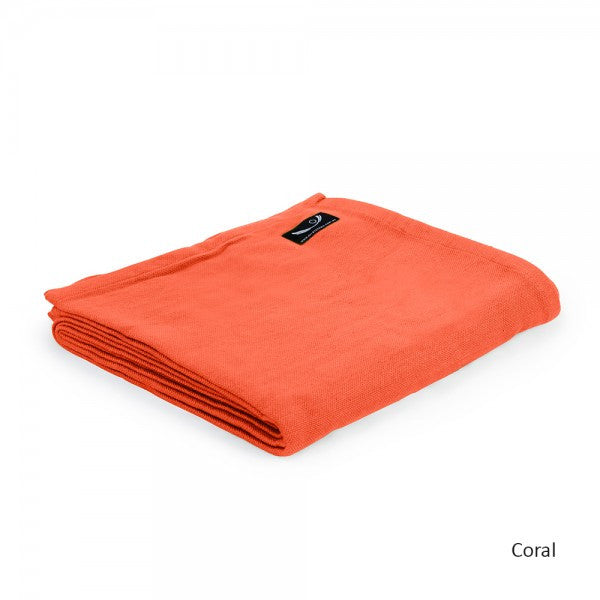 Coral Organic Cotton Yoga Blanket