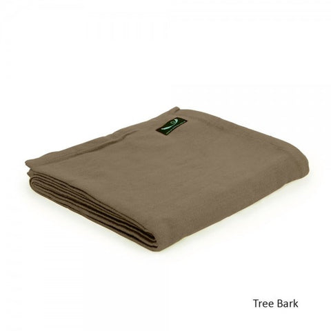 Tree Bark Organic Cotton Yoga Blanket