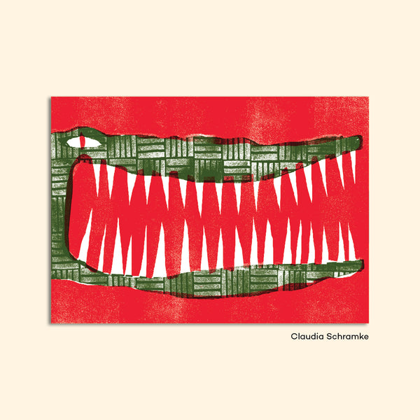 "Postcard ""Crocodile"" by Claudia Schramke"