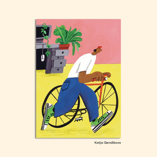 "Postcard ""Cyclist"" by Katja Gendikova"