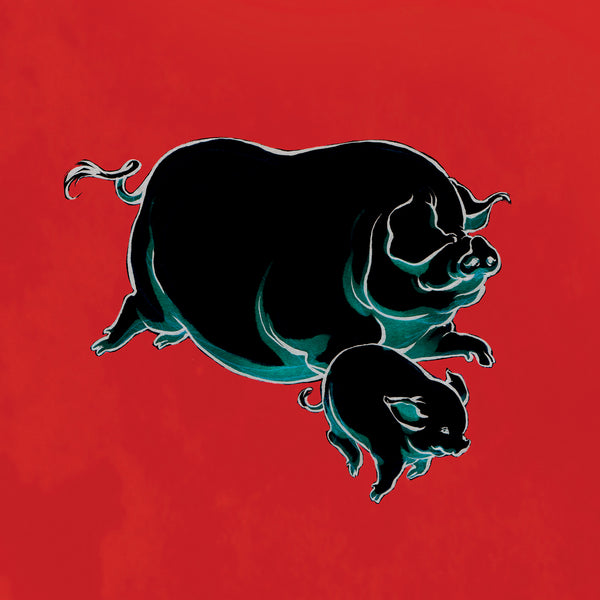 PIG RUN greeting card