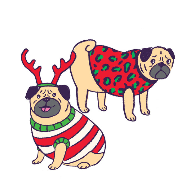 PUGLY SWEATER christmas card