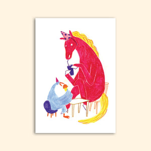 PARTY PONY greeting card