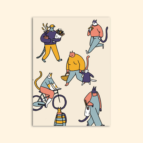 CAT CITY greeting card