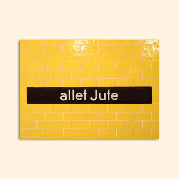 ALLET JUTE greeting card