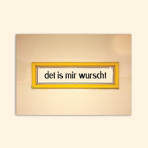 DET IS MIR WURSCHT postcard