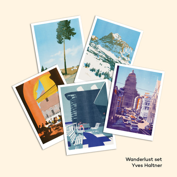 WANDERLUST set of 5 postcards