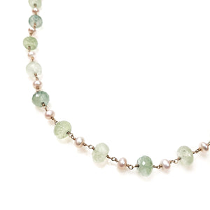 Pearl and Prynite Necklace