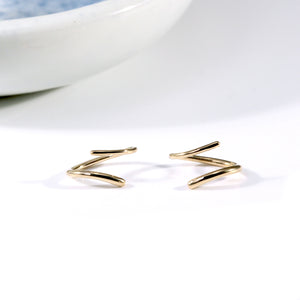 Spiral Earrings: Yellow Gold
