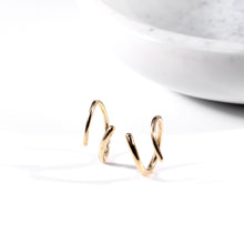 Load image into Gallery viewer, Spiral Earrings: Yellow Gold