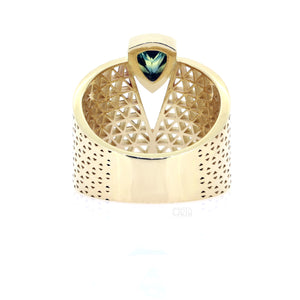 The Nefertiti Ring with 0.67ct Sapphire