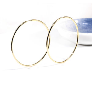 Tempered Hoop Earring