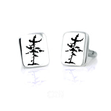Load image into Gallery viewer, Ontario White Pine: Sterling Silver Cufflinks