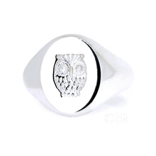 Load image into Gallery viewer, The Owl Signet Ring