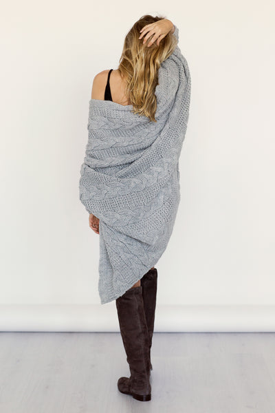 'AGNES' light grey kardiganas