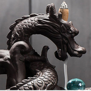 Crystal Dragon Incense Burner - KOLLMART