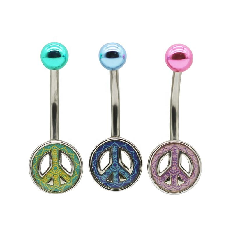 Fashion Barbell Belly Ring Piercing Jewelry - KOLLMART