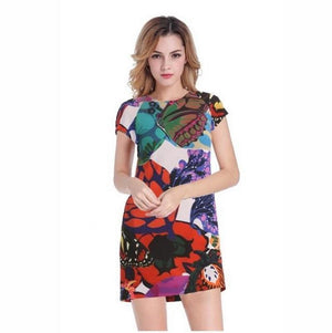 Women Summer Patchwork Off Shoulder Sexy Dress - KOLLMART