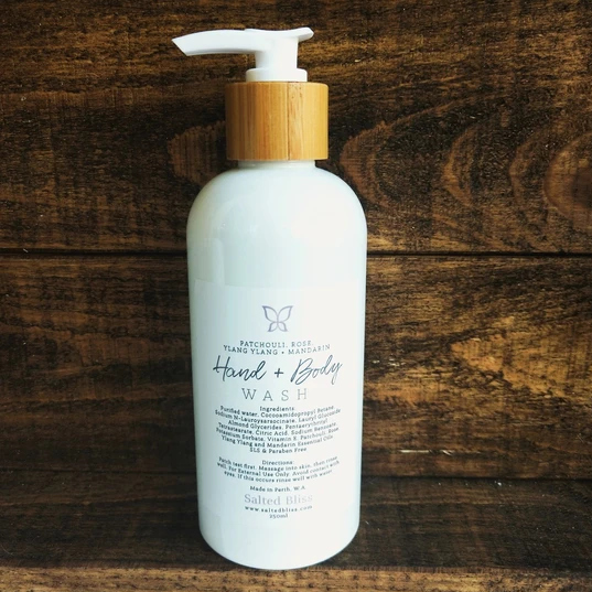 Salted Bliss Patchouli, Rose, Ylang Ylang & Mandarin Hand and Body Wash