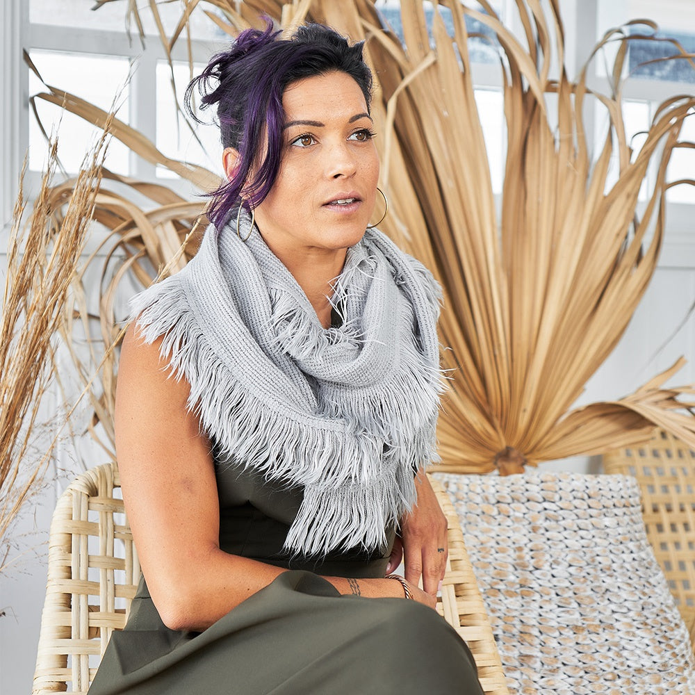 Fringe Snood Scarf