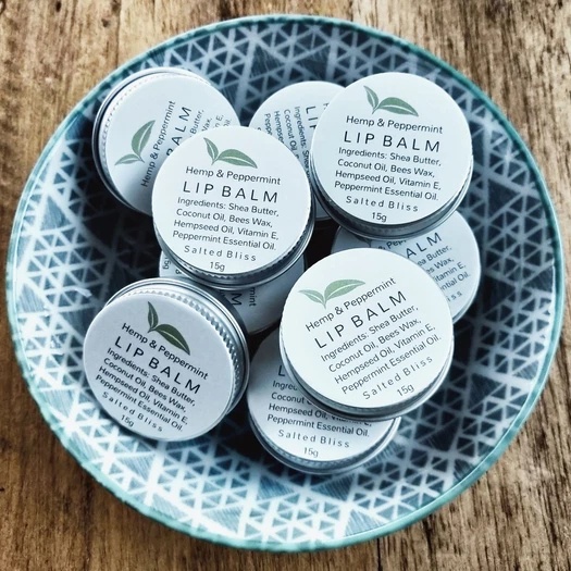 Salted Bliss Hemp & Peppermint Lip Balm