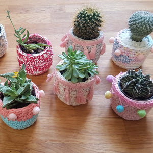 Mini Crochet Planter Pot Class