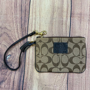 Primary Photo - BRAND: COACH STYLE: WRISTLET COLOR: MONOGRAM OTHER INFO: LIGHT BROWN LEATHER TRIM SKU: 178-17824-11274