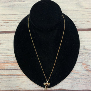 Primary Photo - BRAND:  STYLE: NECKLACE COLOR: STERLING SILVER OTHER INFO: GOLD/CROSS W/RED GEM SKU: 178-178212-6278