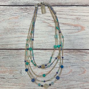 Primary Photo - BRAND: CHICOS STYLE: NECKLACE COLOR: MULTI OTHER INFO: AQUA/BROWN/NAVY/GOLD SKU: 178-178102-63537