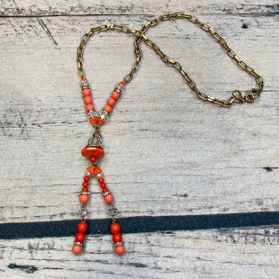Primary Photo - BRAND: J CREW STYLE: NECKLACE COLOR: ORANGE OTHER INFO: GOLD/CLEAR/DIAMOND SKU: 178-17853-627