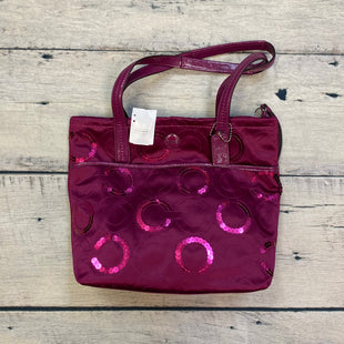 Primary Photo - BRAND: COACH STYLE: HANDBAG DESIGNER COLOR: MONOGRAM SIZE: MEDIUM OTHER INFO: NWT! SIS SEQUIN TOTE-FUSCHIA W/ SEQUINS SKU: 178-178203-1301