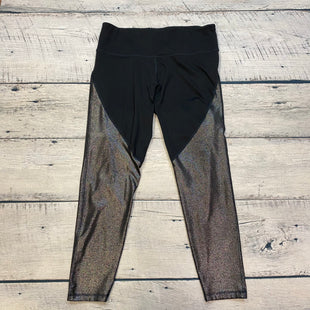 Primary Photo - BRAND: OLD NAVY STYLE: ATHLETIC CAPRIS COLOR: BLACK SIZE: XL OTHER INFO: GOLD SHIMMER SKU: 178-178102-53571