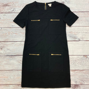 Primary Photo - BRAND: J CREW STYLE: DRESS SHORT SHORT SLEEVE COLOR: BLACK SIZE: S OTHER INFO: GOLD ZIPPERS SKU: 178-178203-4308