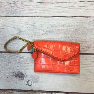 Primary Photo - BRAND: HENRI BENDEL STYLE: WRISTLET COLOR: ORANGE OTHER INFO: ALLIGATOR EMBOSSMENT W/ GOLD SKU: 178-178102-58323