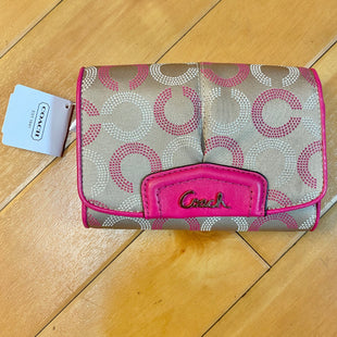 Primary Photo - BRAND: COACH STYLE: WALLET COLOR: MONOGRAM SIZE: MEDIUM OTHER INFO: NEW! ASHLEY OP ART HOBO $188 SKU: 178-178102-53018