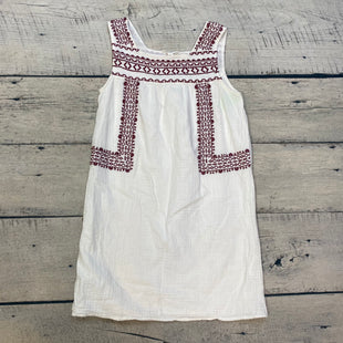 Primary Photo - BRAND: BEACHLUNCHLOUNGE STYLE: DRESS SHORT SLEEVELESS COLOR: WHITE SIZE: S OTHER INFO: MAROON EMBORIDERY SKU: 178-178102-59870
