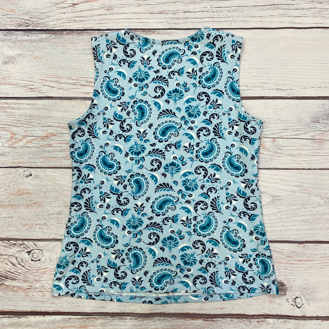 Photo #2 - BRAND: CROFT AND BARROW <BR>STYLE: TOP SLEEVELESS BASIC <BR>COLOR: PRINT <BR>SIZE: S <BR>OTHER INFO: BLUE/NAVY <BR>SKU: 178-17883-10221