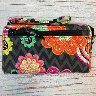 Primary Photo - BRAND: VERA BRADLEY STYLE: WRISTLET COLOR: BLACK SIZE: 0 OTHER INFO: FLOWERS/ORANGE/PINK/GREEN SKU: 178-17853-178