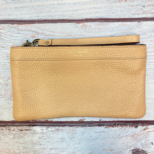 Primary Photo - BRAND: KATE SPADE STYLE: WRISTLET COLOR: TAN OTHER INFO: LEATHER WRISTLET SKU: 178-178102-62776