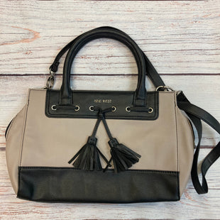 Primary Photo - BRAND: NINE WEST STYLE: HANDBAG COLOR: TAUPE SIZE: MEDIUM OTHER INFO: BLACK TRIMS-VEGAN LEATHER SKU: 178-178102-59023