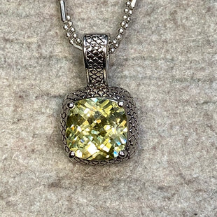 Primary Photo - BRAND: PREMIER DESIGNS STYLE: NECKLACE COLOR: SILVER OTHER INFO: YELLOW PENDANT SKU: 178-178102-60998
