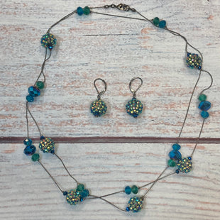 Primary Photo - STYLE: NECKLACE SET COLOR: BLUE GREEN SIZE: 02 PIECE SET OTHER INFO: BALLS W/ CRYSTALS SKU: 178-178102-61780
