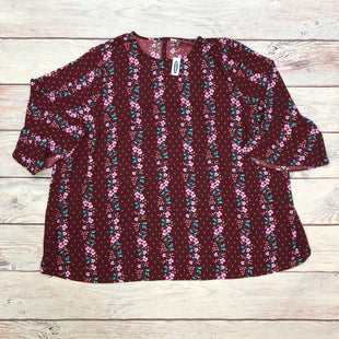 Primary Photo - BRAND: OLD NAVY STYLE: TOP LONG SLEEVE COLOR: FLORAL SIZE: 4X OTHER INFO: MAROON/TEAL/PURPLE/WHITE/TAN SKU: 178-178102-58379