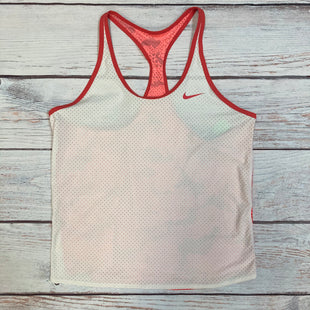 Primary Photo - BRAND: NIKE STYLE: ATHLETIC TANK TOP COLOR: WHITE SIZE: M OTHER INFO: RED/PINK BACK/TRIM SKU: 178-178212-4786
